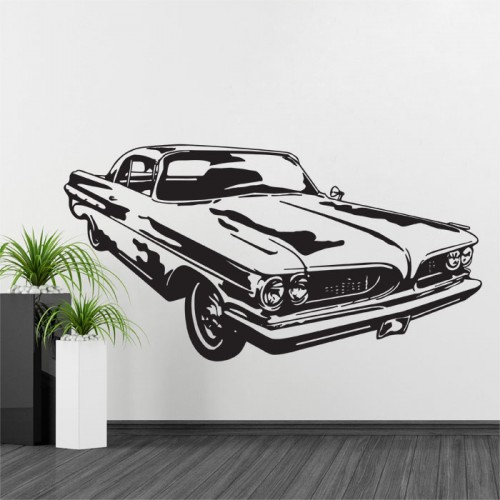 1967 Pontiac Gto Muscle Car Vinyl Wall Decal