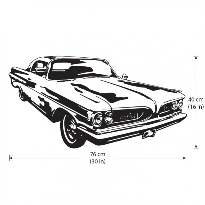 Muscle Car Decals >> Pontiac Gto Muscle Car Vinyl Wall Decal