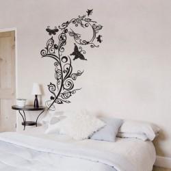 สติกเกอร์ติดผนัง Arabesques and Butterflies Wall Sticker (WD-0015)