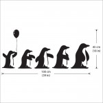 สติกเกอร์ติดผนัง เพนกวิน Penguins Wall Sticker