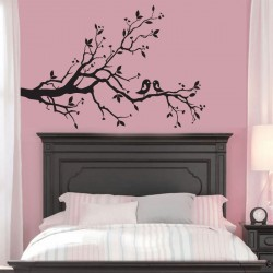 Cherry Blossom and Birds Vinyl Wall Art Decal (WD-0017)