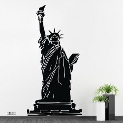 Statue Of Liberty Vinyl Wall Art Decal (WD 0026)
