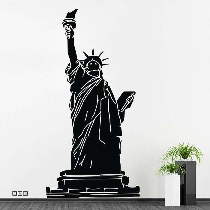 Superior Statue Of Liberty Wall Sticker · Wonderful Statue Of Liberty Wall  Sticker Part 86