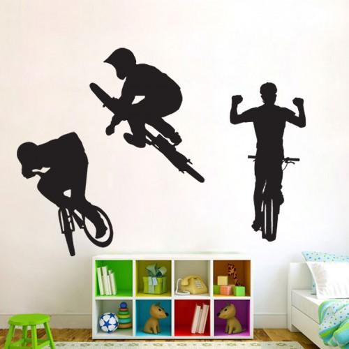 สติกเกอร์ติดผนัง Extreme Bicycle Wall Sticker