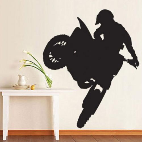 สติกเกอร์ติดผนัง Extreme Motocross Bike Wall Sticker
