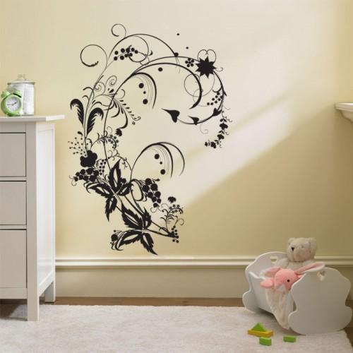 สติกเกอร์ติดผนัง Branches and Leaves Swirl Wall Sticker