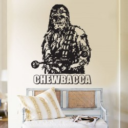 Chewbacca Stra Wars Vinyl Wall Art Decal (WD-0037)