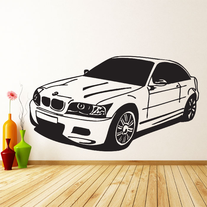 Car Vinyl Wall Art Decal - Bmw vinyl stickers
