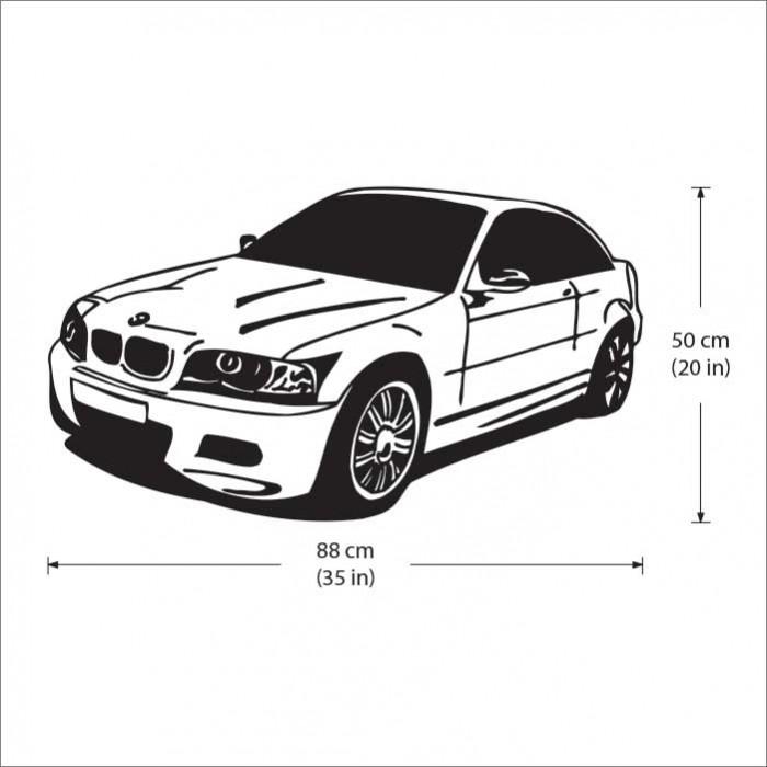 BMW Car Vinyl Wall Art Decal