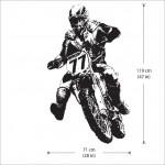 สติกเกอร์ติดผนัง ภาพ มอเตอร์ไซค์ Motorcycle Wall Sticker