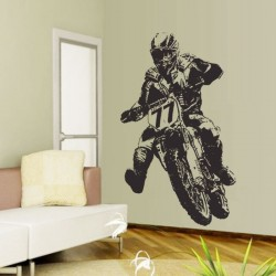 Extreme Motocross Bike Vinyl Wall Art Decal (WD-0042)