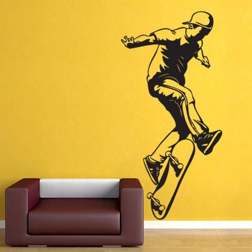 สติกเกอร์ติดผนัง Skateboarding Wall Sticker