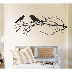 สติกเกอร์ติดผนัง Birds on Branch Wall Sticker (WD-0069)