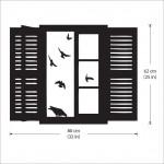 สติกเกอร์ติดผนัง ภาพ Birds flying into Window Wall Art