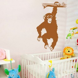 Monkey on Branch Vinyl Wall Art Decal (WD-0077)