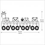สติกเกอร์ติดผนัง Cute Train with Animal Wall Sticker
