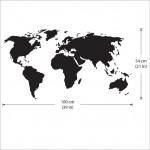 สติกเกอร์ติดผนัง ภาพ แผนที่โลก World Map Wall Sticker