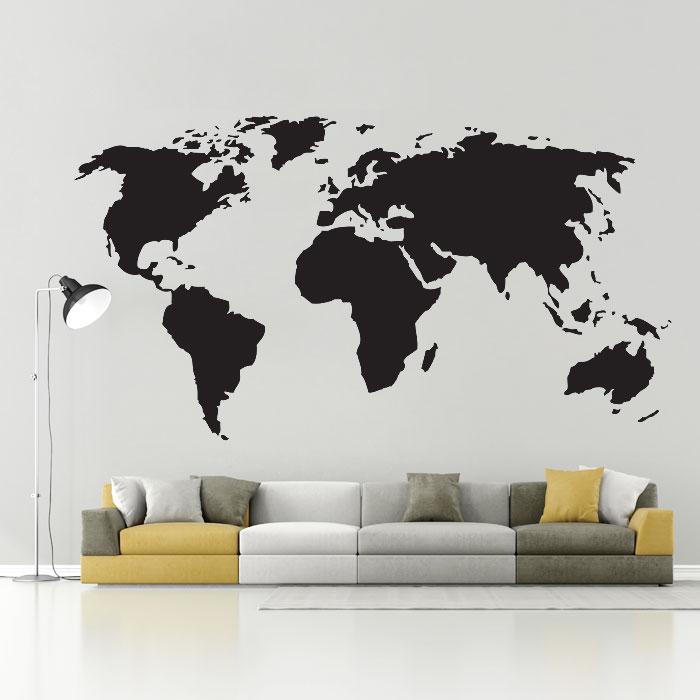 World Map Vinyl Wall Art Decal