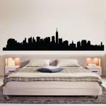 สติกเกอร์ติดผนัง ภาพ นิวยอร์ก NYC New York Skyline Wall Decal