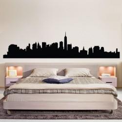 สติกเกอร์ติดผนัง ภาพ NYC New York Skyline Wall Decal (WD-0083)