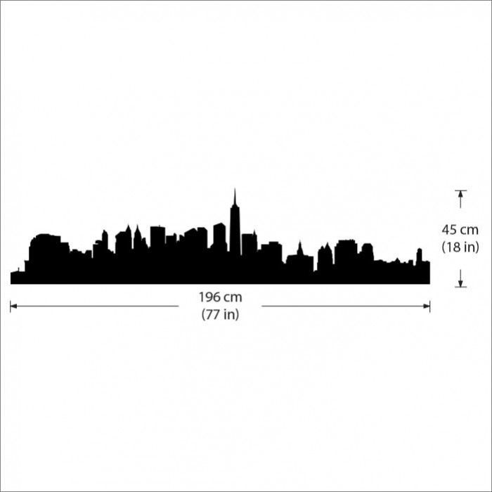 NYC New York Skyline Wall Decal