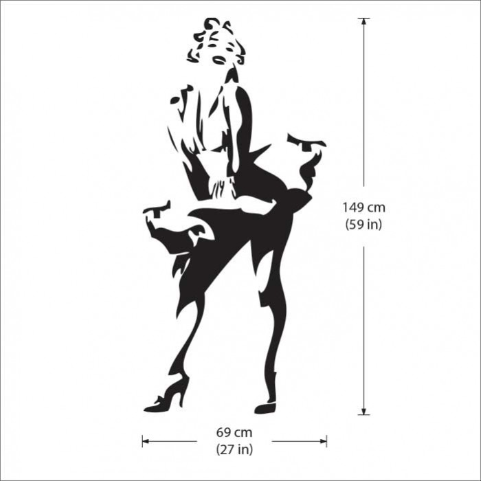 Sexy Marilyn Monroe Vinyl Wall Art Decal Part 63