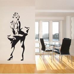 สติกเกอร์ติดผนัง ภาพ มาริลิน มอนโร Marilyn Monroe Wall Sticker (WD-0089)