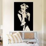 สติกเกอร์ติดผนัง ภาพ มาริลิน มอนโร Marilyn Monroe Wall Decal