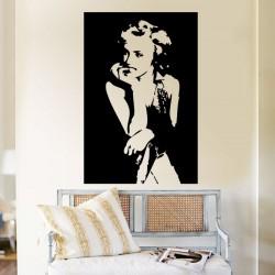 สติกเกอร์ติดผนัง ภาพ มาริลิน มอนโร Marilyn Monroe Wall Decal (WD-0090)