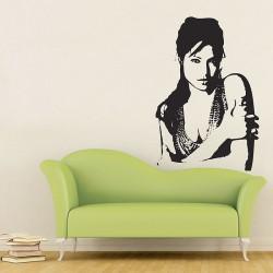 สติกเกอร์ติดผนัง แอนเจลีนา โจลี Angelina Jolie Wall Sticker (WD-0094)