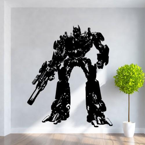 สติกเกอร์ติดผนัง ภาพ Transformers Optimus Prime Wall Tattoo
