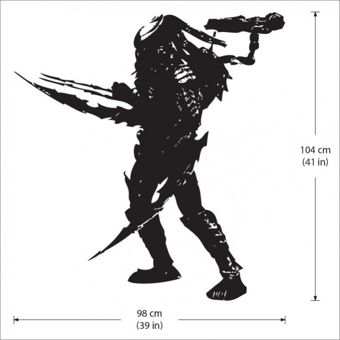 Celtic predator vinyl wall art decal
