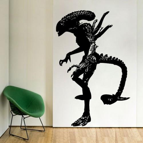 สติกเกอร์ติดผนัง ภาพ เอเลี่ยน Battle Grid Alien Wall Decal