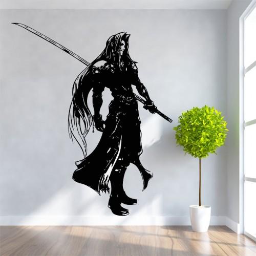 สติกเกอร์ติดผนัง ภาพ Sephiroth Final Fantasy Wall Tattoo
