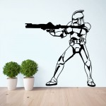 สติกเกอร์ติดผนัง ภาพ Star Wars Stormtrooper Wall Sticker  สตอร์มทรูปเปอร์
