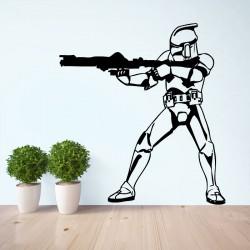 สติกเกอร์ติดผนัง สตอร์มทรูปเปอร์  Star Wars Stormtrooper Wall Sticker (WD-0110)