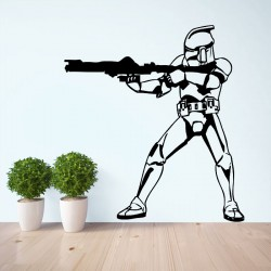 Star Wars Stormtrooper 2 Vinyl Wall Art Decal (WD-0110)