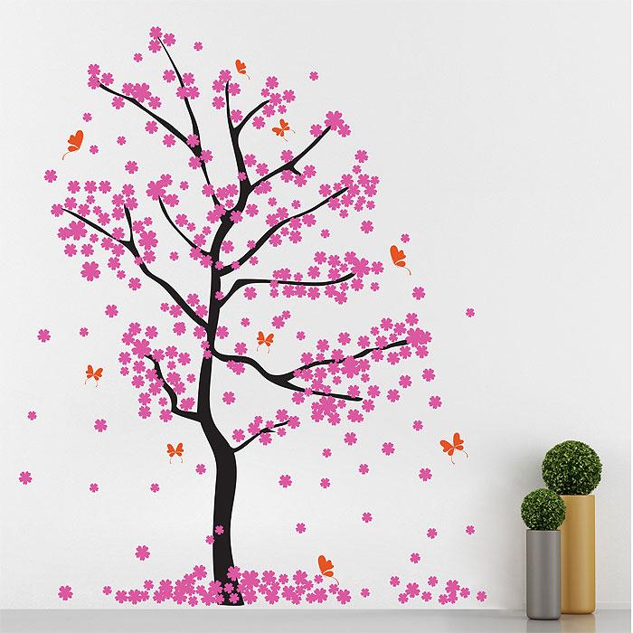Fall Cherry Blossom Tree Vinyl Wall Art Decal Part 75