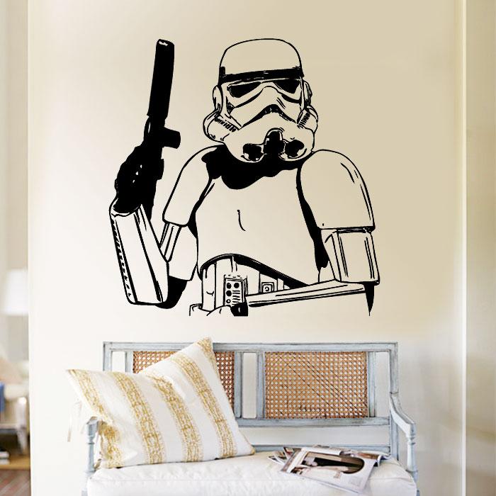 stormtrooper vinyl wall art decal. Black Bedroom Furniture Sets. Home Design Ideas
