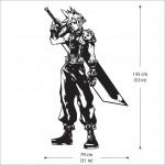 สติกเกอร์ติดผนัง ไฟนอลแฟนตาซี  Cloud Strife Final Fantasy Wall Decal