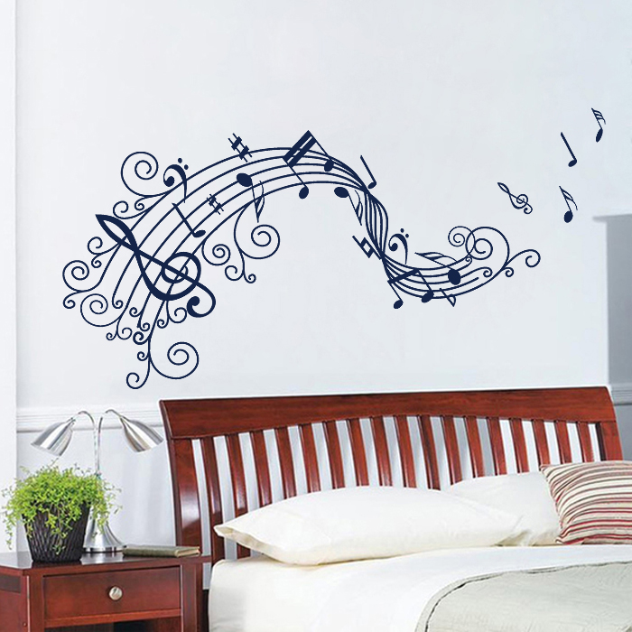 music note design vinyl wall art decal