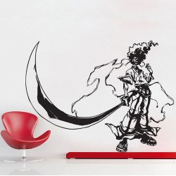 Afro Samurai Vinyl Wall Art Decal (WD-0118)