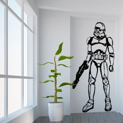 Star Wars Stormtrooper Vinyl Wall Art Decal (WD-0119)