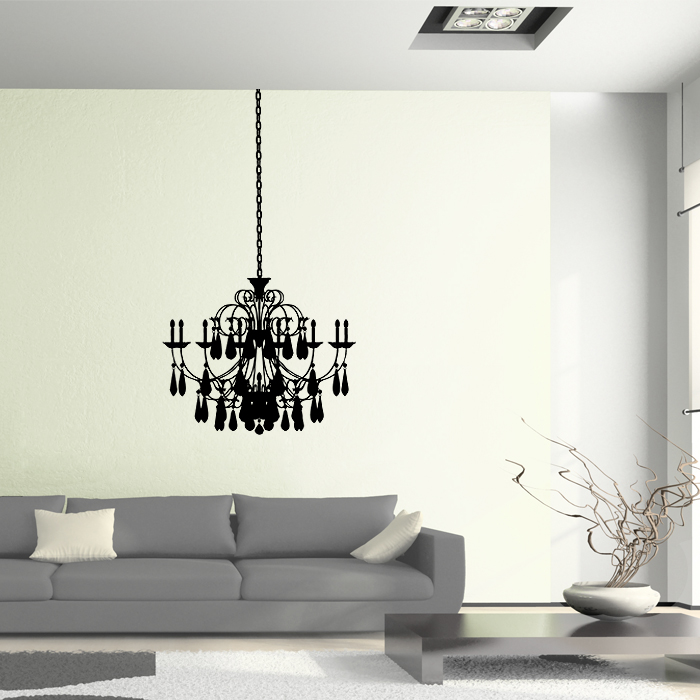 Chandelier Vinyl Wall Art Decal
