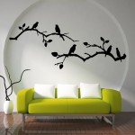 Cherry Blossom with Birds Vinyl Wall Art Decal