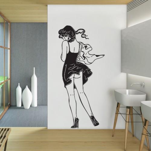 สติกเกอร์ติดผนัง สาวเซ็กซี่ Sexy Girl Wall Sticker