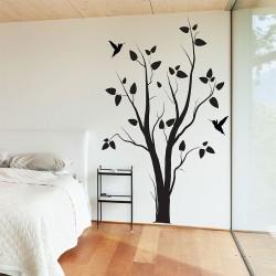 สติกเกอร์ติดผนัง Tree With Birds Wall Sticker (WD-0127)