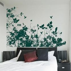 สติกเกอร์ติดผนังภาพ Tree Branch with Birds Wall Sticker (WD-0128)