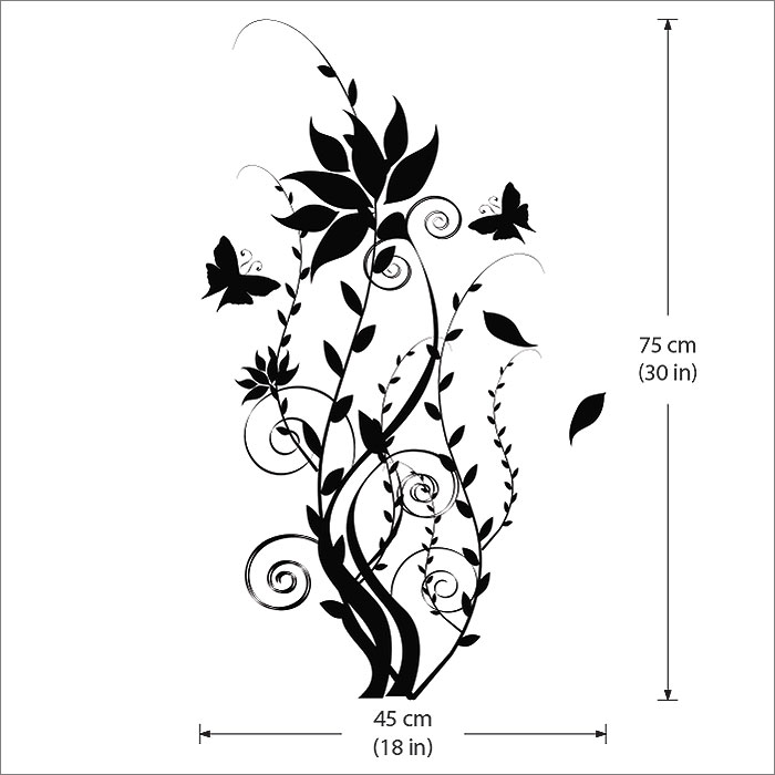 Tree With Butterfly Vinyl Wall Art Decal - Butterfly vinyl decals