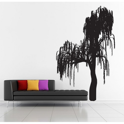 สติกเกอร์ติดผนัง ภาพ Weeping Willow Tree Wall Sticker